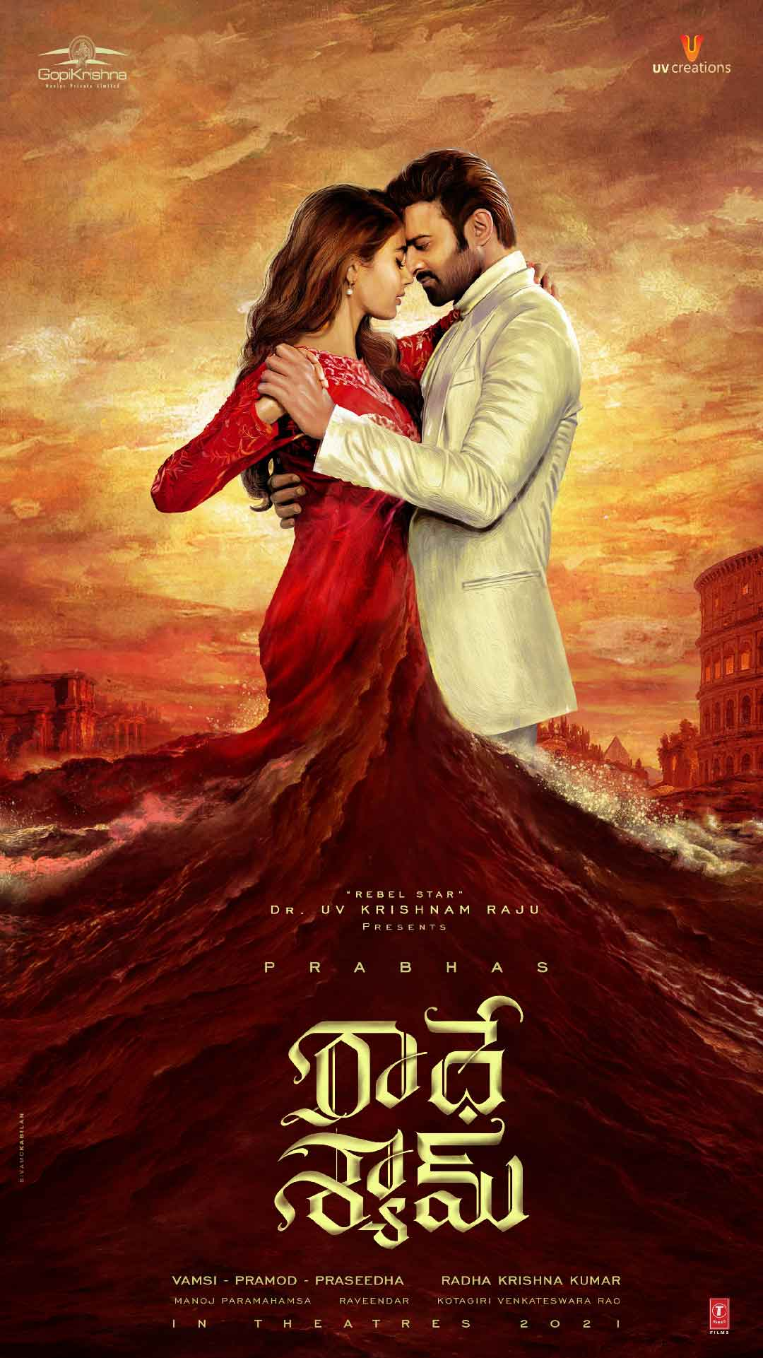 RadheShyam First Look Poster