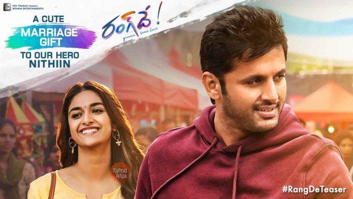 Rang De Telugu Movie Teaser