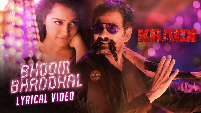 Bhoom Bhaddhal Video Song HD Krack Movie